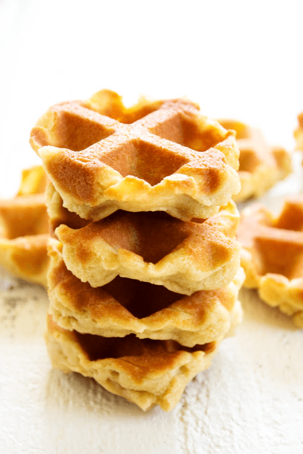 These FRENCH CAKES are made in the waffle iron