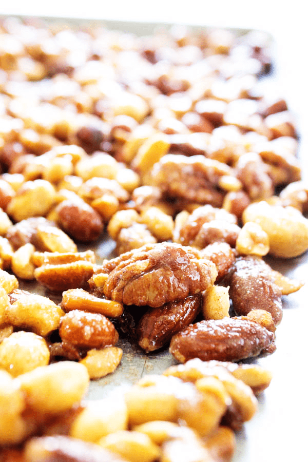 CANDIED MIXED NUTS are simple and deliciously addictive, making the perfect snack and/or holiday gift that everyone will love.