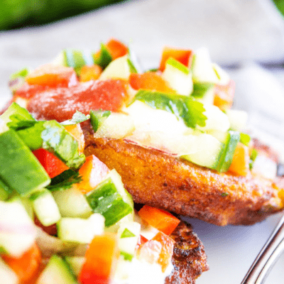 SWEET POTATO CAKES WITH CUCUMBER SALSA