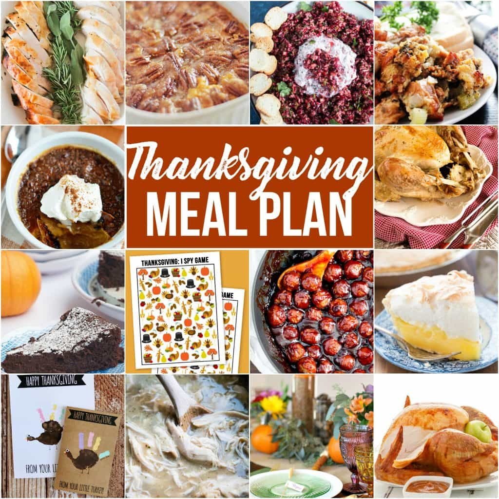This THANKSGIVING MEAL PLAN has everything from appetizers to sweet treats & everything in between making your planning stress-free & delicious.