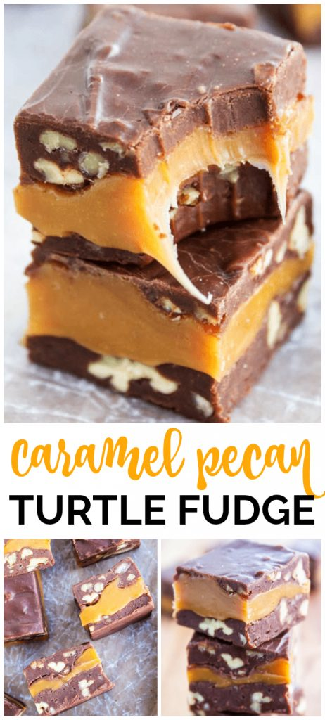 Caramel Pecan Turtle Fudge is traditionally known as Turtle Fudge. It's one of my favorite sweet treats; it doesn't have to be the holidays to enjoy this.