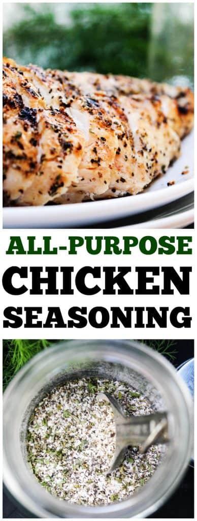 all purpose chicken seasoning on chicken breast grilled