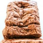 The combination of chocolate & cinnamon and the addition of a crunchy sugar coating makes this Chocolate Cinnamon Bread sliced