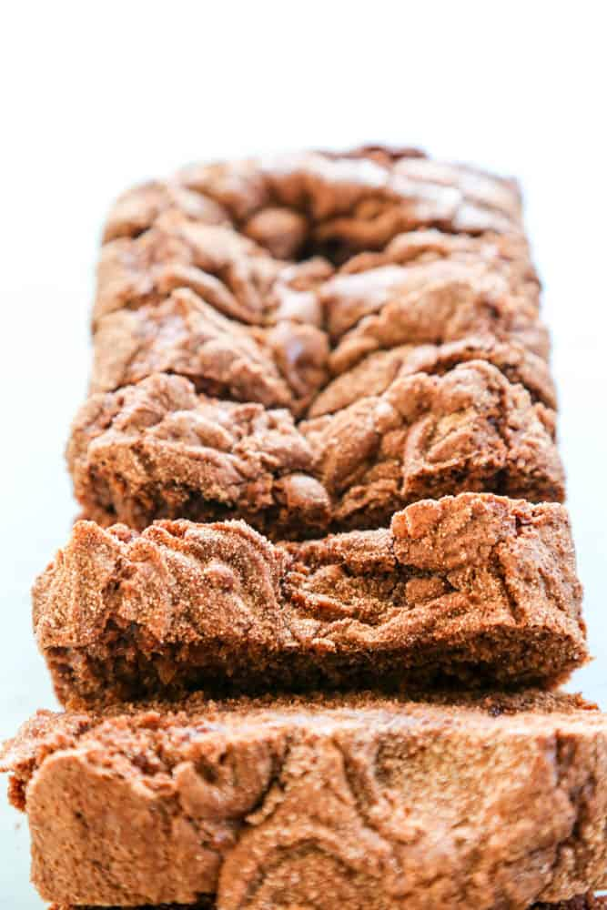 Chocolate Cinnamon Bread sliced