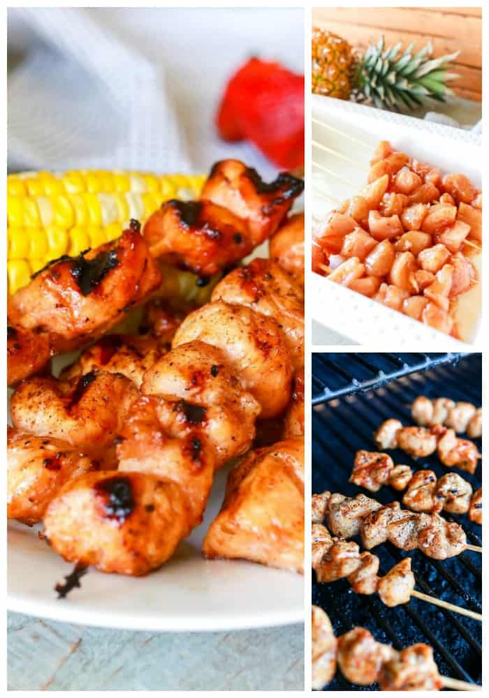 Maple Barbecue Chicken Kabobs - Made with a homemade maple barbecue sauce, a touch of caramelized sweetness, it's easy to make and perfect for summer.
