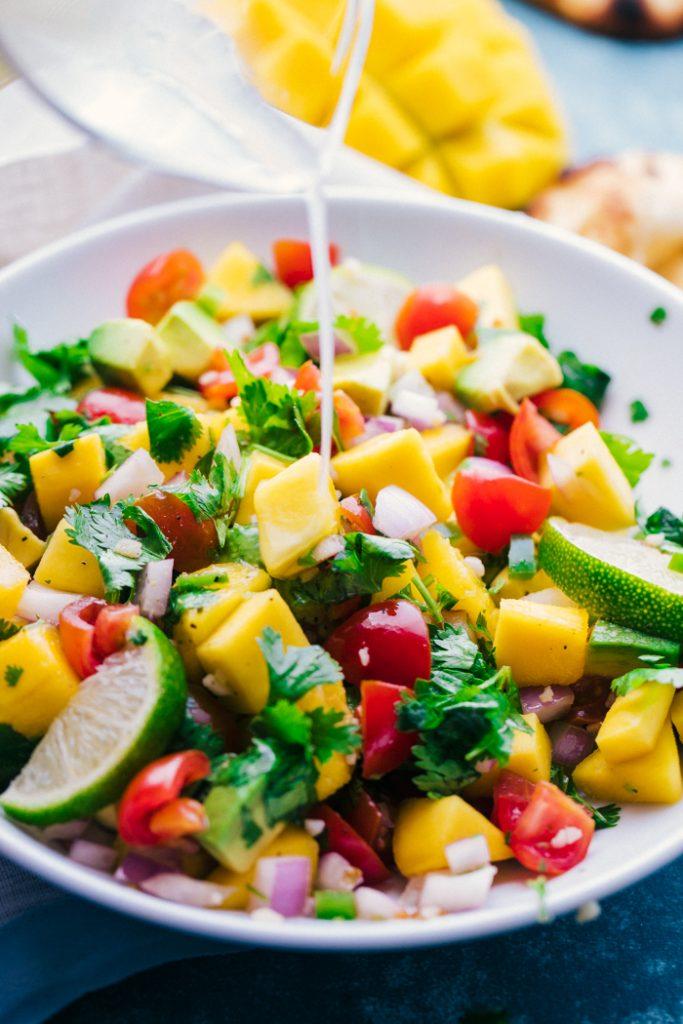 Mango salsa drizzle