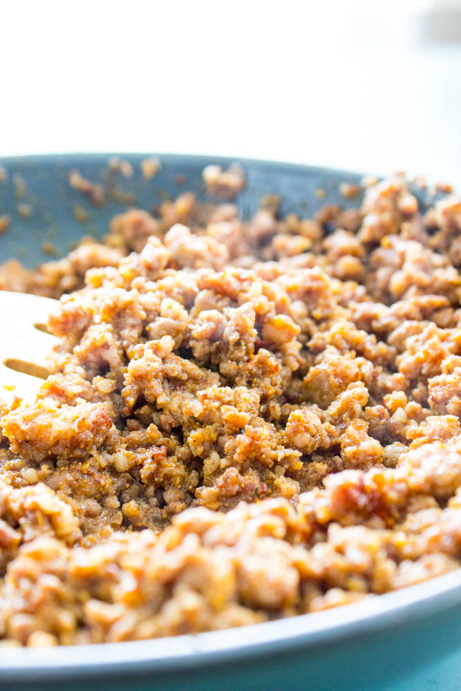Ground pork with taco seasoning