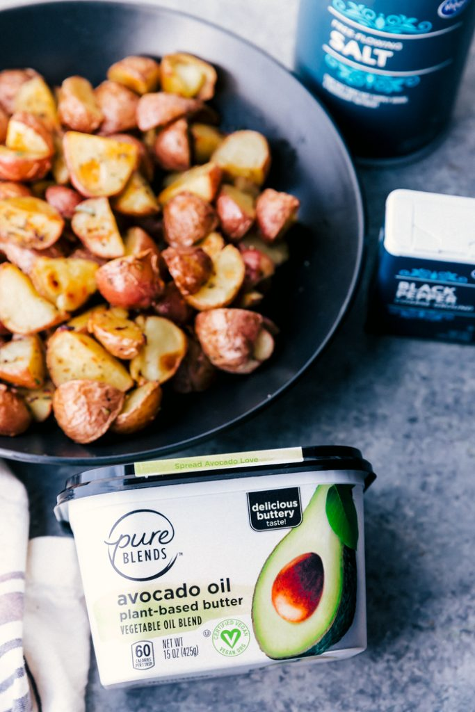 roasted potatoes with avocado oil butter