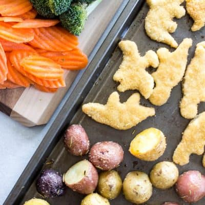 Dinosaur Sheet Pan Dinner