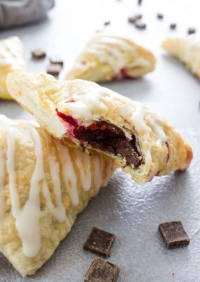 Chocolate Raspberry Turnovers