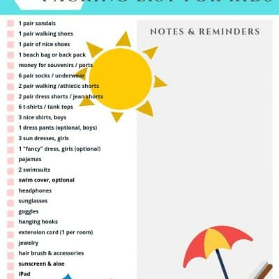 Caribbean Cruise Packing List For Kids