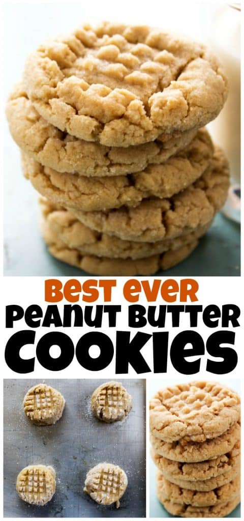 A collage of images of the best ever peanut butter cookies